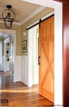 placed on molding  Barn Door Hardware Photo Gallery by Real Sliding Hardware (pg 3)
