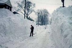 50 years ago, the blizzard of 1966 dropped 109 inches of snow on Syracuse, NY over the course of 4 days Syracuse New York, Rochester New York, Upstate New York, Oswego New York, Winter Storm, Deep Winter, Winter Time, Winter Scenes, Old Pictures