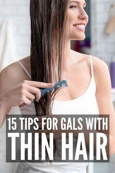 Fine Hair Tips, Long Fine Hair, Haircuts For Thin Fine Hair, Fine Thin Hair Cuts, Tips For Thick Hair, Braids For Thin Hair, Natural Hair Styles, Short Hair Styles, Plait Styles