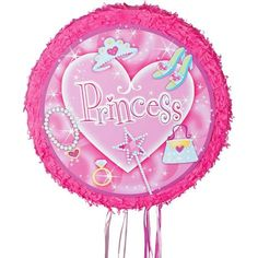 Pull String Princess Pinata 17 1/2in x 17 1/2in x 3 3/4in - Party City
