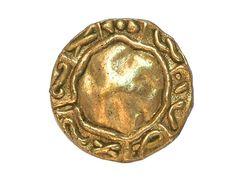 12 Aegean  Matte Gold Metal Shank Buttons 3/4 inch  by ButtonJones, $11.00