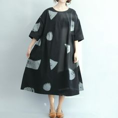 cotton Oversized dress women loose fitting summer dress by MaLieb