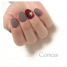 "259 Likes, 1 Comments - 大坂祐子 nail salon Conoa (@osaka_yuko) on Instagram: ""こっくりした色が気になる季節 * Conoa ☎︎07065231787 LINE@ID @zcn8274y * #Conoa #nail #ネイル #ネイルアート #ネイルサロン…"""