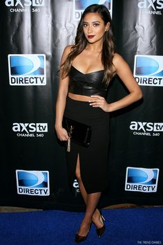 Shay Mitchell at the DirecTV Super Saturday Night at Pier 40 in New York City, New York - February 1, 2014
