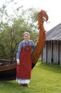 Viking – It's All About The Dresses! Viking Camp, Viking Life, Viking Warrior, Real Vikings, Apron Dress, Fantasy Women, Girl Costumes, Celtic, Norse Symbols