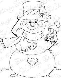 Whimsy Stamps - Rubber Stamps, Clear Stamps, and Snowman Coloring Pages, Colouring Pages, Coloring Books, Christmas Colors, Christmas Snowman, Christmas Crafts, Christmas Coloring Sheets, Whimsy Stamps, Patchwork Quilting