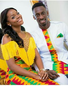 Dearest Lovebirds, What a way to style yourselves with Kente combined with Velvet? Have you seen people dress gorgeously with Kente and Velvet? Trust us, we know what makes you look cute. African Inspired Fashion, Latest African Fashion Dresses, African Print Dresses, African Print Fashion, Africa Fashion, African Dress, African American Fashion, Latest Fashion, Couples African Outfits