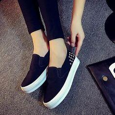 Zapatos de mujer - Plataforma - Comfort - Sneakers a la Moda - Exterior / Casual - Semicuero - Negro / Azul / Blanco 4746336 2016 – $15.133