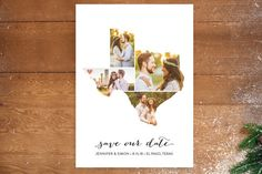 Texas Love Location Save The Date Postcards by Heather B at minted.com