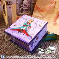 Le Petit Prince Caja Mágica Pintada a Mano www.facebok.com/Yakarte