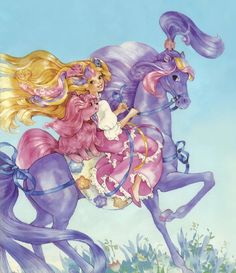 How is it I seem to be the only one that remembers this show? Lady LovelyLocks & pink pet dog SilkyPup riding her purple horse SilkyMane. 80s Characters, Lady Lovely Locks, Female Knight, Old Anime, Locked Wallpaper, Cool Cartoons, Children's Book Illustration, Magical Girl, Vintage Toys