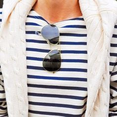 cable knit & stripes