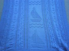 Soft Sailing Baby Blanket by Debra Stenmark - free pattern
