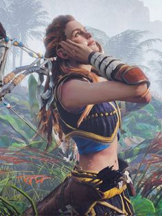Aloy playing in the rain is one of my favorite parts about this game omg it's so cute :3