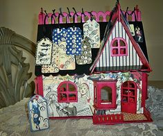 Michaels puzzle house covered in patterned paper -- even more of a fantasy concept than mine!