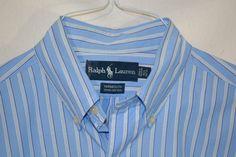 RALPH LAUREN Men's YARMOUTH Long Sleeve Dress Shirt Size 15 1/2 - 34/35 NICE #RalphLauren