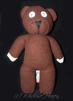 Mr Bean Teddy Bear by WildroseHeaven on Etsy Mr Bean, Hang Tags, Antique Dolls, Gingerbread Cookies, Teddy Bear, Toys, Handmade, Stuff To Buy, Beautiful