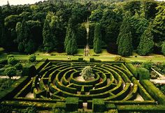 "The Maze at Chatsworth, and , under the link, a review of Adrian Fishers ""The Amazing Book of Mazes"""