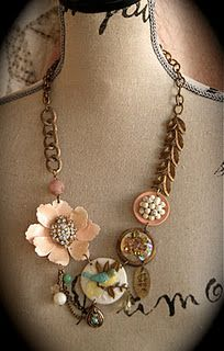 Funky Jewelry ~ This site makes me want to go through my collection of vintage jewelry and create something!