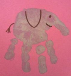 Hand print animals kreative-kids