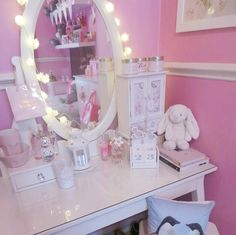 ♡Breakfast at Chloe's♡ My New Room, My Room, Girl Room, Girls Bedroom, Bedrooms, Dressing Room Closet, Unicorn Rooms, Make Up Storage, Vanity Room