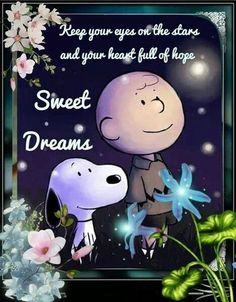 Charlie Brown and Snoppy Good Night Greetings, Good Night Messages, Good Night Wishes, Good Night Sweet Dreams, Goodnight And Sweet Dreams, Snoopy Love, Charlie Brown And Snoopy, Snoopy And Woodstock, Quote Night