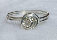 Sterling Silver Custom Size Rose Ring by MAJESSY. Starting at $10 on Tophatter.com!