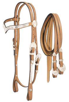 silver show saddles | Royal King V-Browband Silver Show Headstall