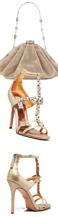 Badgley Mischka Evening Sandals Giovana II and Judith Leiber Bag. -->Elsie RC