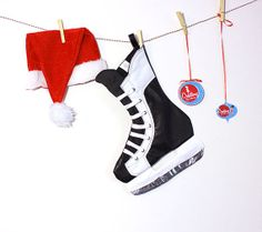 Hockey Stick Puck Player Sport Snowflake Christmas Tree Ornament ...