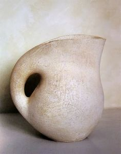 I love the shape of this! It's beautiful André Aleth Masson; Glazed Ceramic Vessel, 1952.