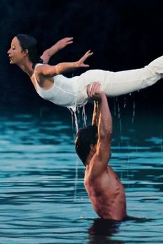 """The Johnny Castle–Frances """"Baby"""" Houseman lift at the end of the '80s classic Dirty Dancing remains one of the most iconic film endings ever... we CAN""""T believe there is going to be a remake!!!!!"""