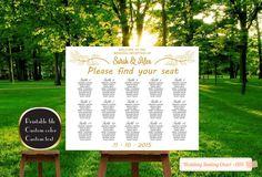 Printable Wedding seating chart poster by PrinceDigitalPhoto