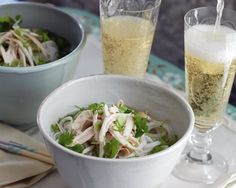 Pho and Champagne in Bed Recipe (Photo courtesy of Lauren Volo)