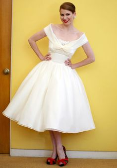 Such a cute short wedding dress,  dolly couture