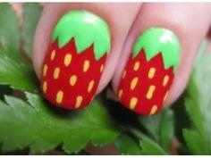 aardbei nagels x