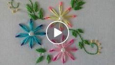 En este video aprenderás cómo bordar flores a mano en puntada margarita con doble color de hilo, paso a paso de manera muy fácil y sencilla, se ven super bonitas , se pueden bordar sobre cualquier tela y sobre cualquier prenda. L invito a practicarl Sewing Stitches, Hand Embroidery Stitches, Beaded Embroidery, Hand Stitching, Embroidery Patterns, Hand Embroidery Flower Designs, Col Crochet, Quilled Paper Art, Brazilian Embroidery