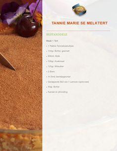 Custard Recipes, Tart Recipes, Anna Olsen, Melktert, South African Recipes, Bakeries, Tarts, Sweet Tooth, Food Ideas