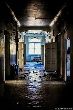 M. Schuetze - Abandoned psychiatric institution in Germany Verlassene Psychiatrie in Deutschland ....die Bilder stehen still Leere wächst über mich hinaus noch ein halber Atemzug im letzten Blick über eine Spur von Splittern.....