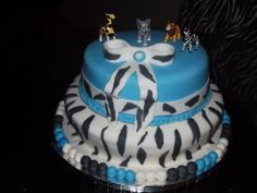 cake baby shower zebra