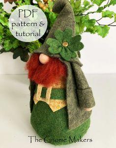 ST PATRICKS Leprechaun Gnome PDF Pattern Digital Gnome | Etsy