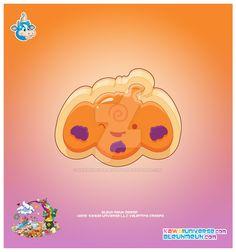 Kawaii Pumpkin Sugar Cookie by KawaiiUniverseStudio.deviantart.com on @DeviantArt
