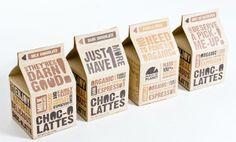 Choc-o Lattes Packaging Carton Packaging by natalia bungert, via Behance. bold sans-serif typography in brown and orange on brown paper Branding And Packaging, Organic Packaging, Milk Packaging, Candy Packaging, Food Packaging Design, Beverage Packaging, Paper Packaging, Coffee Packaging, Packaging Design Inspiration