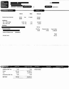 Payslip Template Free Download Jelena Drobinina Jdrobinina On Pinterest