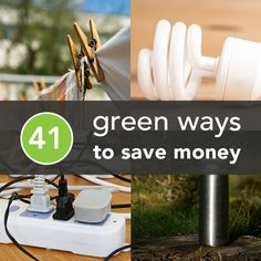 Being eco-friendly isn't only great for the environment, it can also save you money! Here are 41 Eco-Friendly Tips to Save Cash.