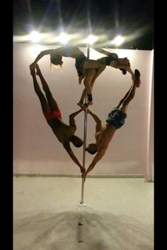 We must try this at the studio! So cute! Come join our lovely pole family! Pink Lemon Studio located in St. Louis, MO http://www.pinklemonstudio.com/ 1-844-STL-POLE