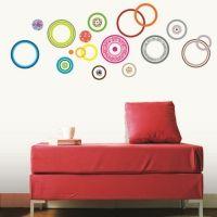 Stickers cercles design multicolores