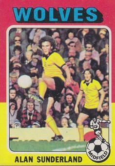 Alan Sunderland of Wolves in Wolverhampton, Sunderland, Manchester United, Wolves, 1970s, Comic Books, Football, Baseball Cards, Comics