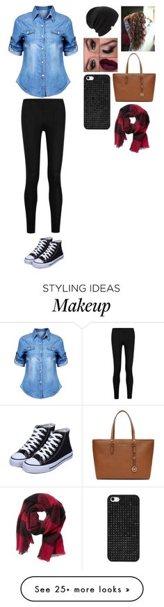 """Untitled #228"" by pomeranian087 on Polyvore featuring moda, Donna Karan, Coal, BaubleBar, MICHAEL Michael Kors ve Banana Republic"