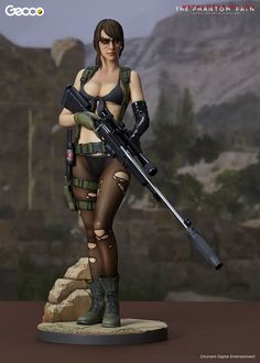New Metal Gear Solid V: The Phantom Pain's Quiet Statue by Gecco Is Sexy and Awesome   DualShockers
